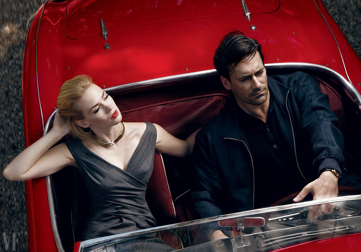 Mad Men Pics On Twitter Jon Hamm And January Jones Photographed By Annie Leibovitz For Vanity Fair 2009