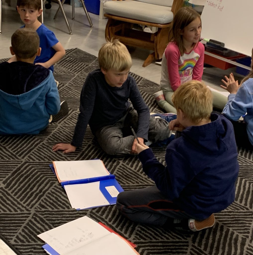 Today writers brainstormed lists of expert topics and then rehearsed their writing by teaching a partner about one of those topics! <a target='_blank' href='http://twitter.com/TCRWP'>@TCRWP</a> <a target='_blank' href='http://twitter.com/AbingdonGIFT'>@AbingdonGIFT</a> <a target='_blank' href='https://t.co/xm4eIiSakj'>https://t.co/xm4eIiSakj</a>