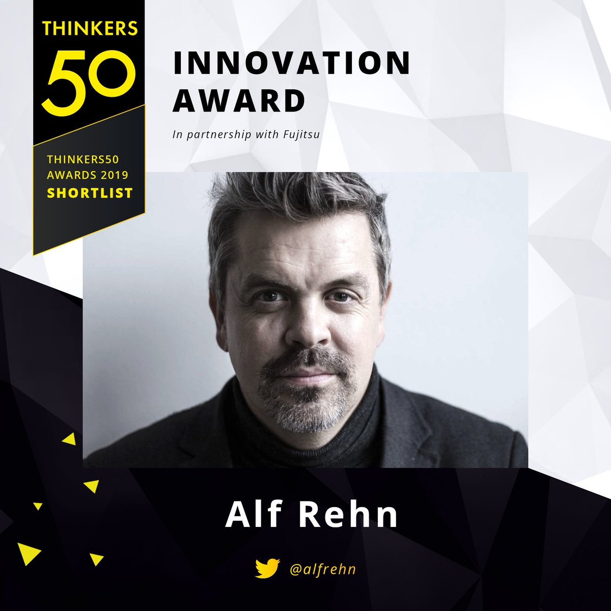 Very proud to be shortlisted for this, the @Thinkers50 Innovation Award 2019!