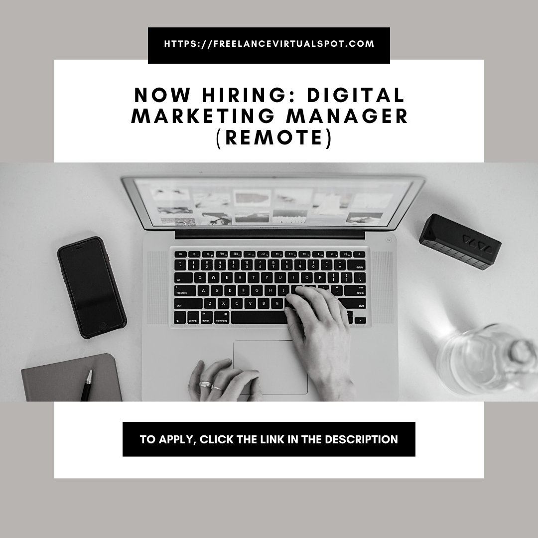 NOW HIRING: Digital Marketing Manager (remote) To apply, check this link  https:// buff.ly/31A1lBr      #nowhiring #DigitalMarketingManager #remote #remotework #telecommute #telework #homebased #homeoffice #freelance #freelancevirtualspot #GoodJooJoo<br>http://pic.twitter.com/TyeE8lbmM4