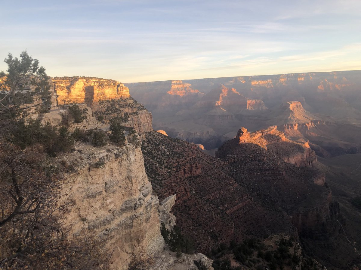 Not a bad sunrise at Grand Canyon. Headed down for a few days hiking on canyon floor. Some possibility might stay through November, 2020.