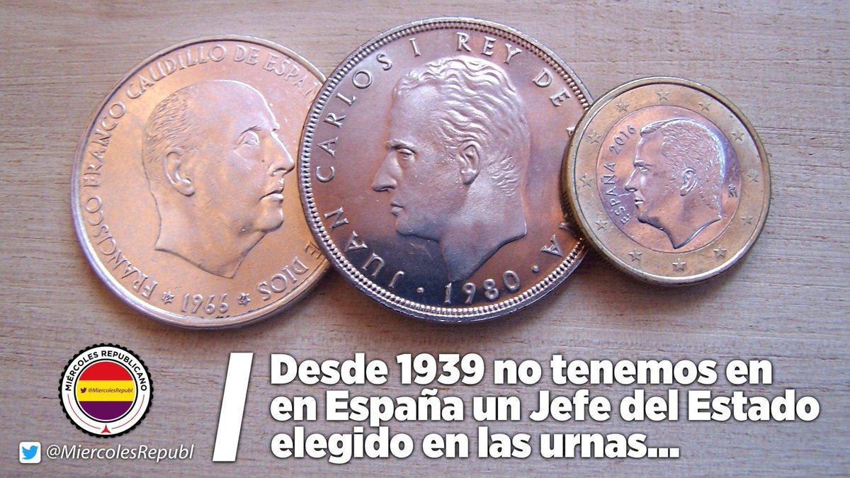 RT @Famelica_legion: Desde 1939 no tenemos en España un Jefe el Estado elegido en las urnas... https://t.co/aA3nv7w0JN #LaRepúblicaViene ❤️…