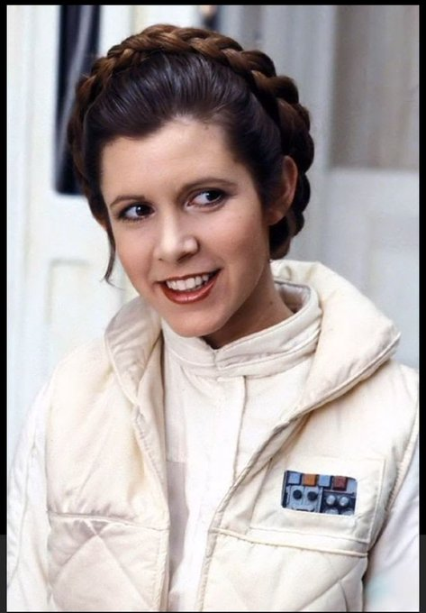 Happy birthday to the galactic princess Carrie Fisher
