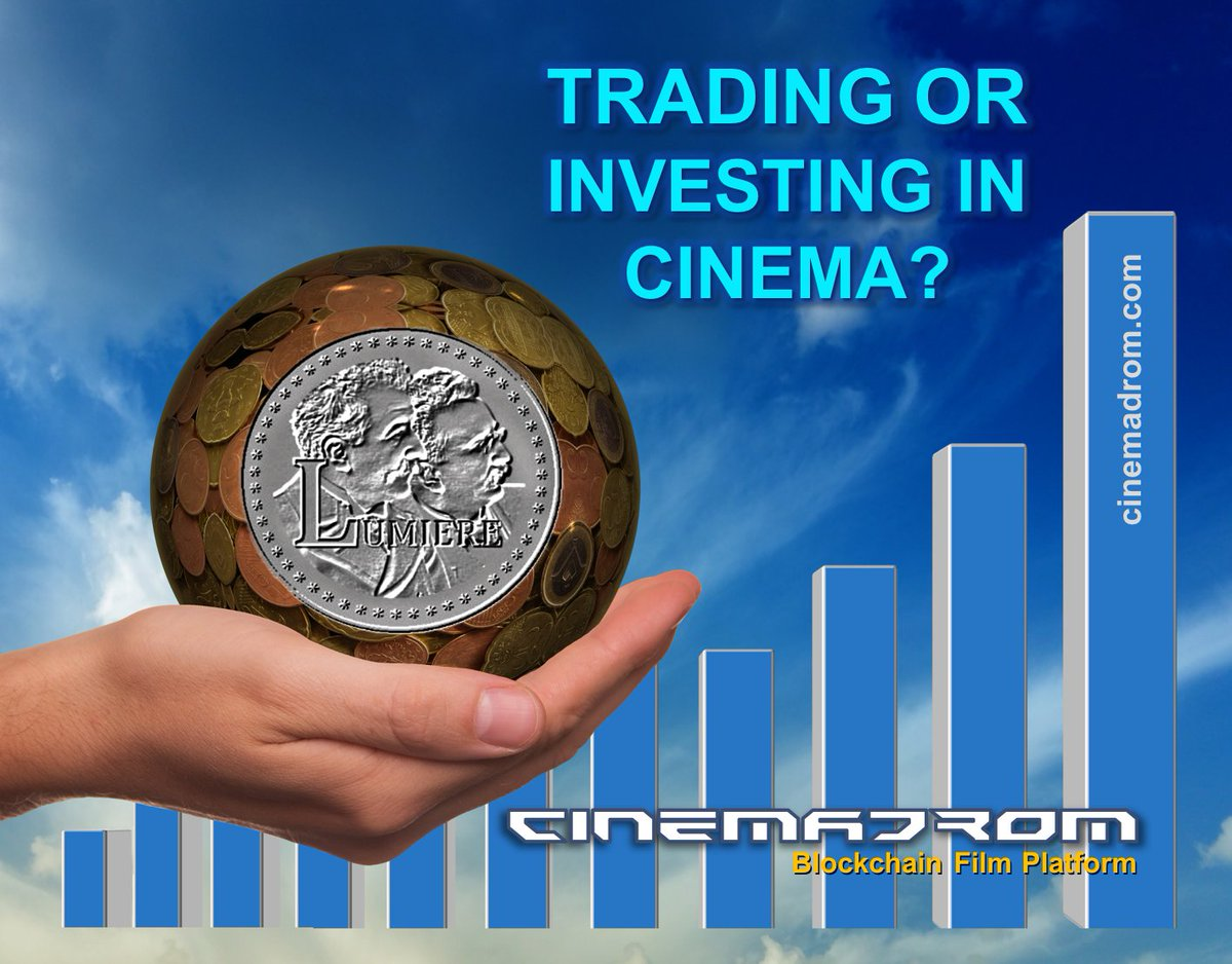 TRADING OR INVESTING IN CINEMA? When you are engaged in cryptocurrency trading on the exchange, for someone to earn money, someone else should lose.  A completely different situation with investment in the cinema. Everyone earns relative to the size of their investments. #ico<br>http://pic.twitter.com/mpUGH59diK