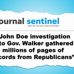 Image for the Tweet beginning: WI's infamous John Doe investigations: