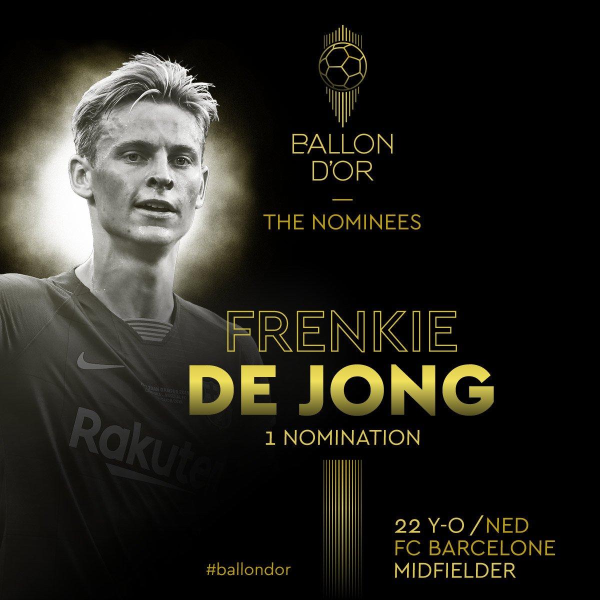 Frenkie De Jong   @FCBarcelona   #ballondor