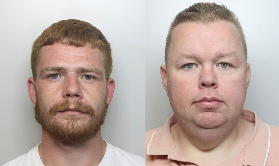 Two men have been sentenced to a total of seven and a half years in prison after admitting a string of frauds over a three-year period. bit.ly/2VYNu6o