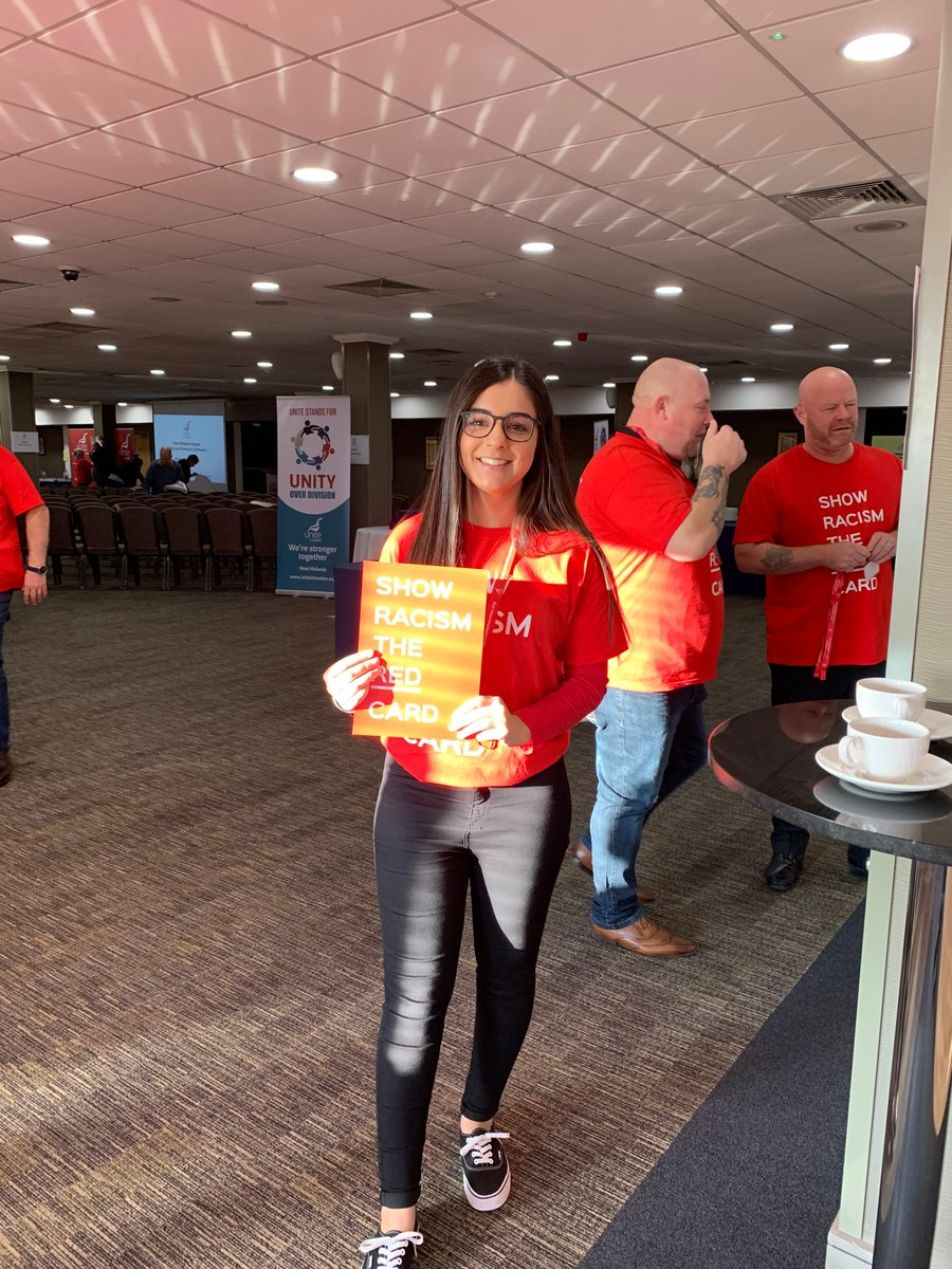 ✋🏻🔴𝗦𝗵𝗼𝘄 𝗥𝗮𝗰𝗶𝘀𝗺 𝗧𝗵𝗲 𝗥𝗲𝗱 𝗖𝗮𝗿𝗱🔴✋🏾 Great event held by: @unitetheunion @UniteWestMids for @SRTRC_England It is not right to l̴i̴v̴e̴ ̴i̴n̴ ̴f̴e̴a̴r̴, to f̴e̴e̴l̴ ̴u̴n̴e̴q̴u̴a̴l̴ or to b̴e̴ ̴v̴i̴c̴t̴i̴m̴i̴s̴e̴d̴. #UnityOverDivision #WRD19 #EqualityForAll