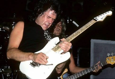 Gary Moore, Playing for keeps as always  pictured in '86 🤟🎸 https://t.co/LM15hJSWV5
