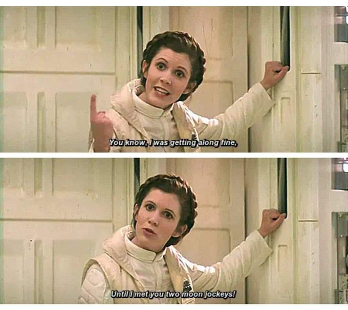 Happy Birthday to the late Carrie Fisher.  Still loved by all.