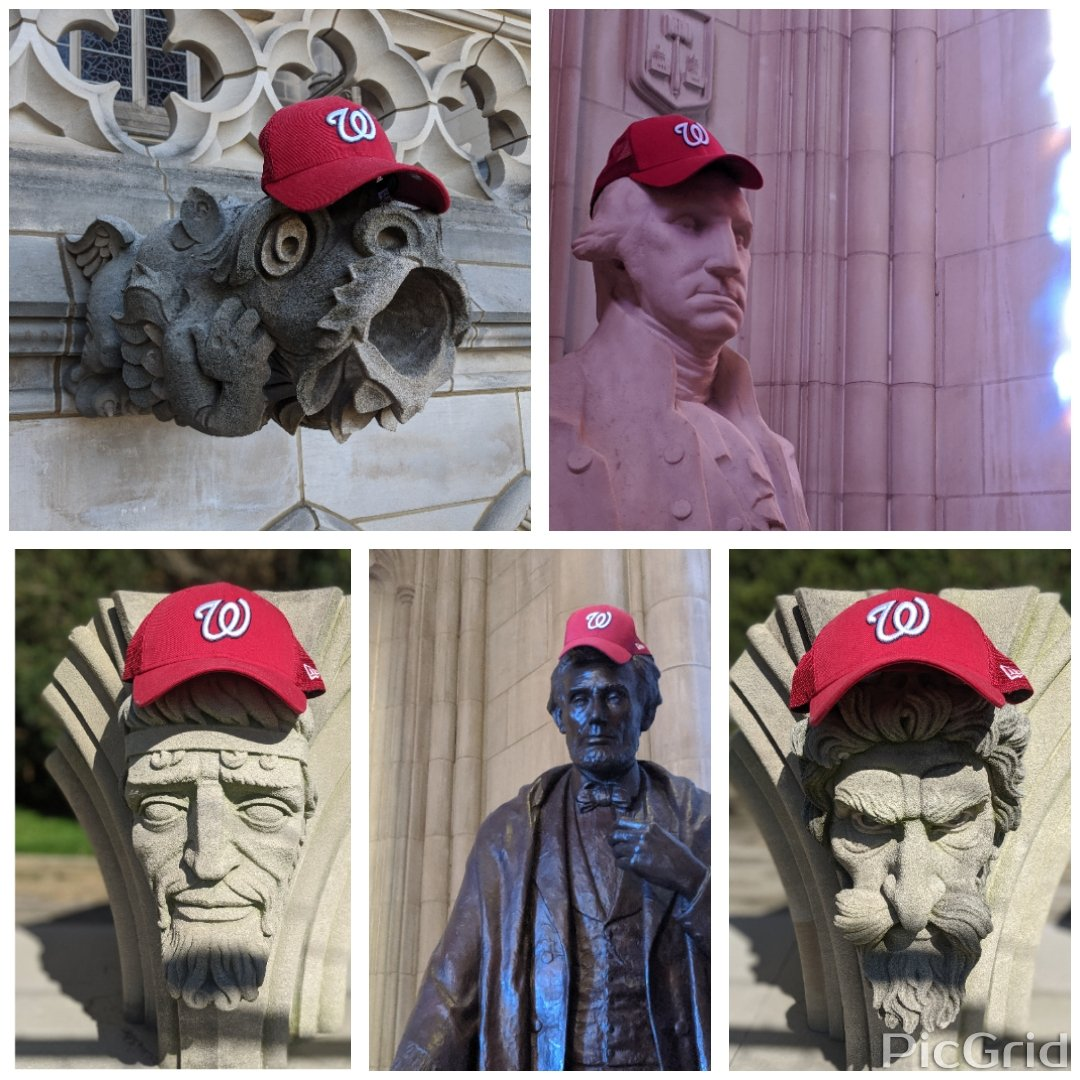 Everyone at @WNCathedral is root root rooting for the home team! @Nationals #STAYINTHEFIGHT #Natitude #GodHasFavorites