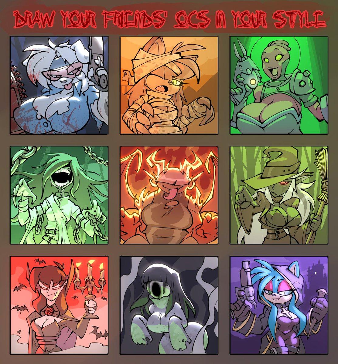 All done XD Characters featured are by: @joelaskoartnsfw @MilkChaoTea @DDadko @MhDrawin @GrizzlySuplex @MetalScratchin @Alvh_Omega @DankoDeadZone @MoiraAunty XD