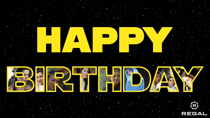 Happy Birthday to the brightest light in the galaxy. Forever our Princess and General, Carrie Fisher!