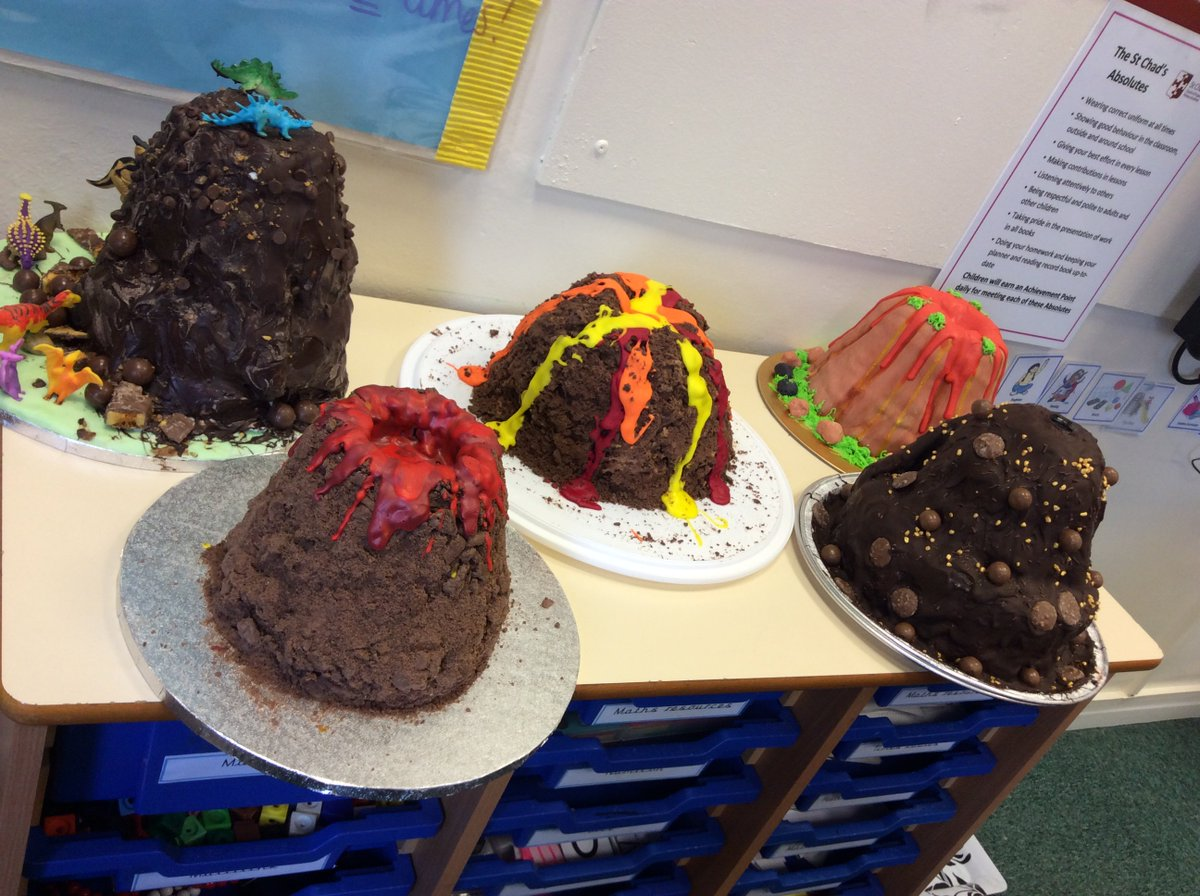Y4 enjoyed sampling some of the delicious 'cake volcanoes' they have created today. They were delicious! Thank you to our 'star bakers'.  Our very own showstoppers worthy of an appearance on the Great British Bake Off @BritishBakeOff