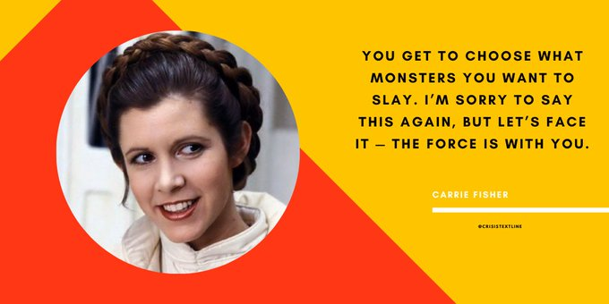 Happy birthday, Carrie Fisher! Thank you for using your Force for good