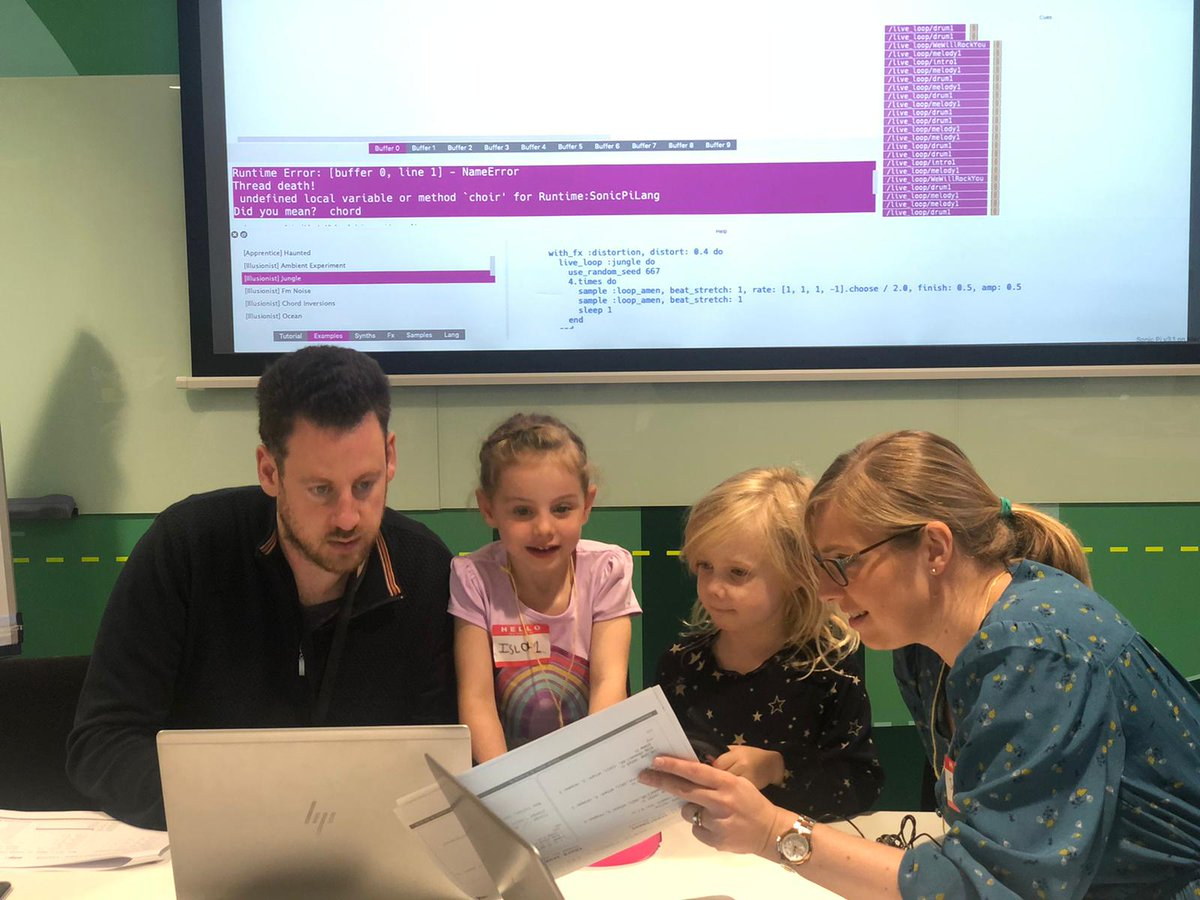 Awesome #Kidovation day at @AccentureUK teaching 100 kids how to create live music using #SonicPi & design products for users! So impressed by their creativity & imagination!🎵💻 #AccentOnFamily #UserCentricDesign #DesignThinking #BringYourChildToWork #KidsWhoCode #GirlsWhoCode https://t.co/cEo6ctg87b