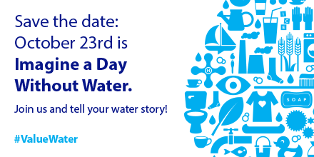 RT @XylemInc: Here are five ways to #ValueWater Imagine A Day Without Water: October 23 https://t.co/powPdohBv9 https://t.co/gIHKBNPRxJ