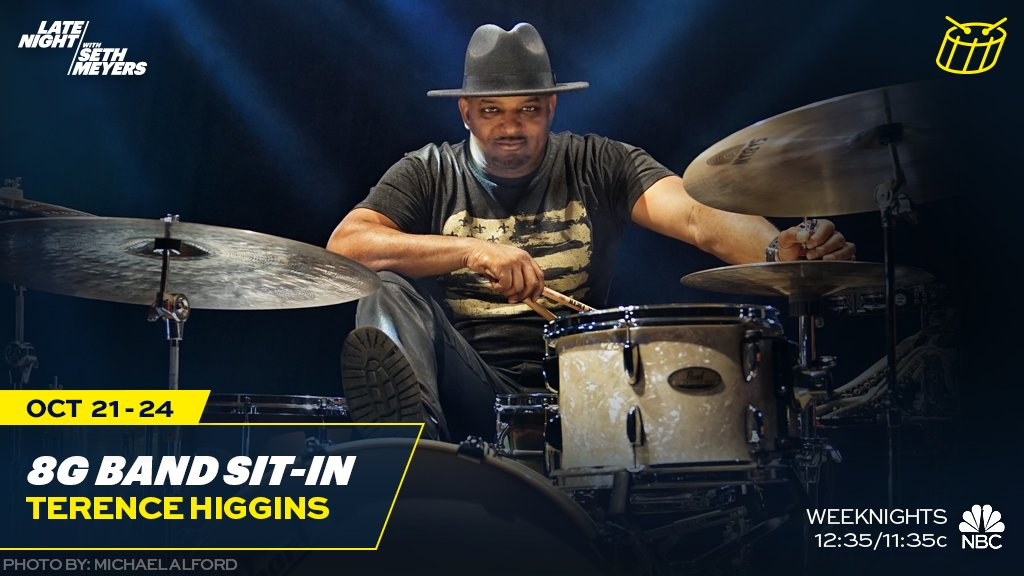 All week, Terence Higgins sits in with the 8G Band!
