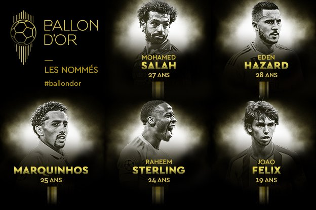 Ballon d'Or : les 30 nommés sont désormais connus