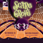 Image for the Tweet beginning: Scaregrove, our spooktacular Halloween event,