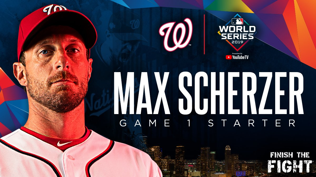 Game 1 of the 2019 #WorldSeries falls on a #Scherzday. #STAYINTHEFIGHT