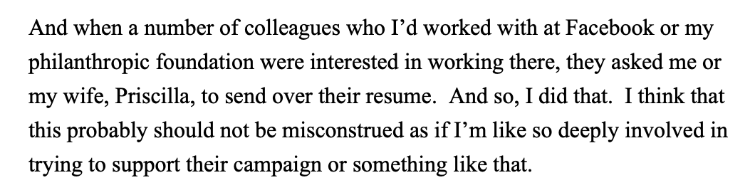 Brian Fung On Twitter Here S The Part Of The Call Transcript Where Mark Zuckerberg Addresses His Private Job Candidate Referral To The Buttigieg Campaign Https T Co Xs9jzynqkd Https T Co Amzrc6glz0