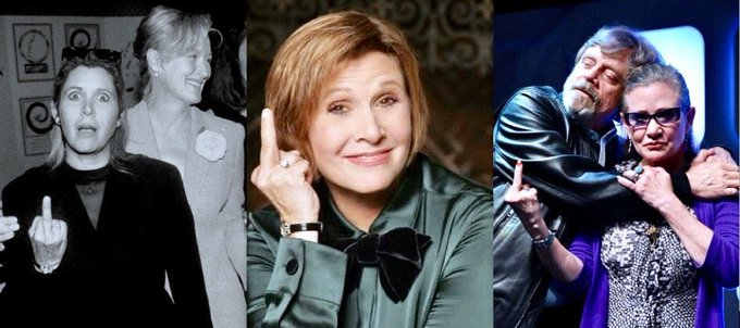 Happy Birthday, Carrie Fisher, sorely missed.