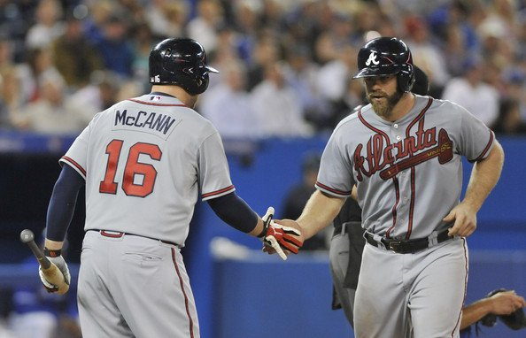 The recently retired Brian McCann will throw out the ceremonial first pitch prior to Game 1 of the #WorldSeries in Houston. Evan Gattis will be behind the plate for it. The former #Braves backstops were teammates on the #Astros World Championship team in 2017.