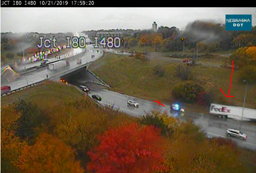 Image posted in Tweet made by Omaha Hwy Conditions on October 21, 2019, 11:01 pm UTC