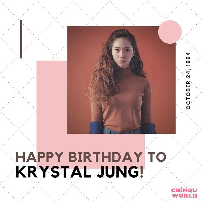 Happy birthday to Krystal Jung!