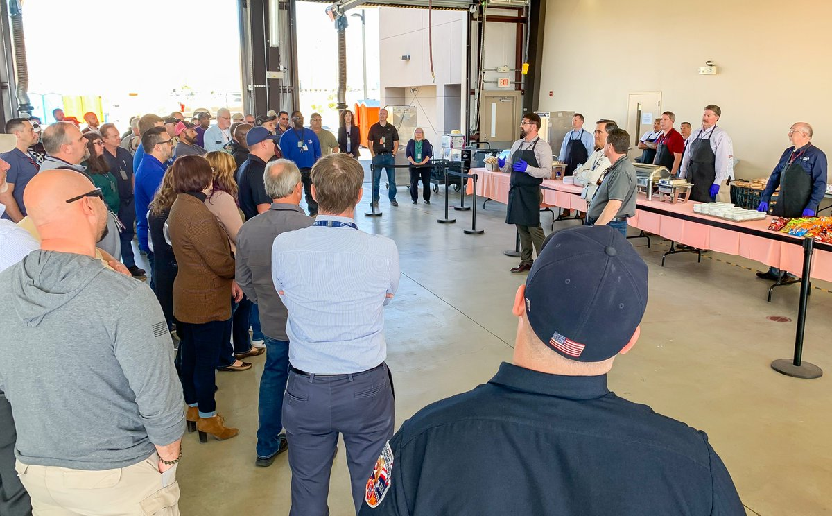 """My leadership team and I had the privilege to thank the men and women who helped us be prepared for """"Storm Area 51"""" on September 20. We served BBQ and gave each a commemorative token this week. #grateful<br>http://pic.twitter.com/kzBDzL52sn"""