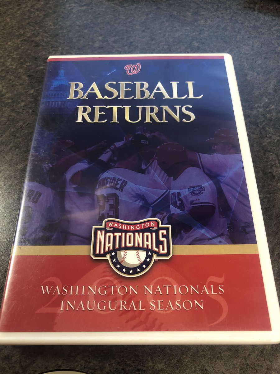 Bought this @nationals DVD for a couple of bucks at a used book sale back in mid-September, back before the Wild Card, #NLCS, or #NLDS. I hope it appreciates as much as I appreciate it! #worldseries