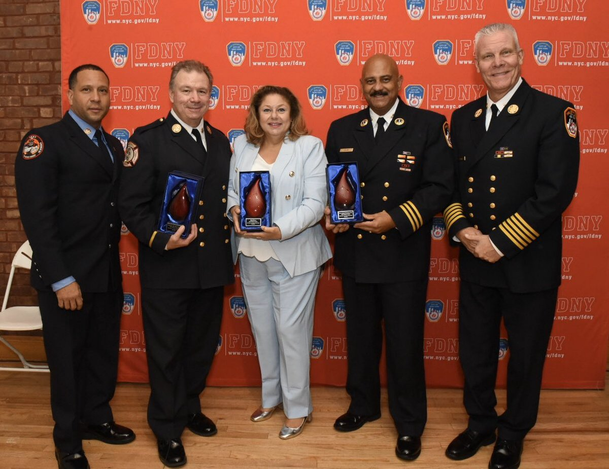 #FDNY celebrated Hispanic and Latinx Heritage this evening at the @NYCFireMuseum. Read more: on.nyc.gov/2W1KnL2