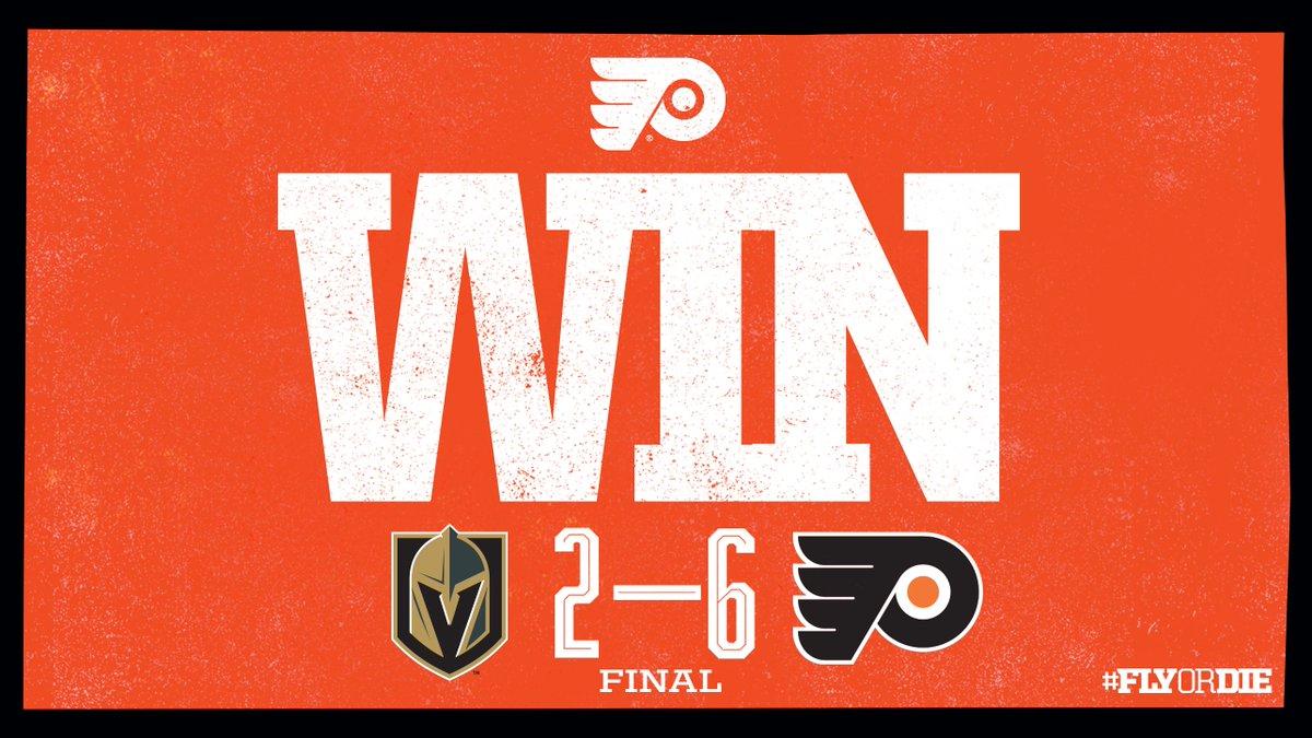 Replying to @NHLFlyers: 🔶 #FLYERS WIN 🔶   Goodknight, Loss Vegas.  #VGKvsPHI | #FlyOrDie