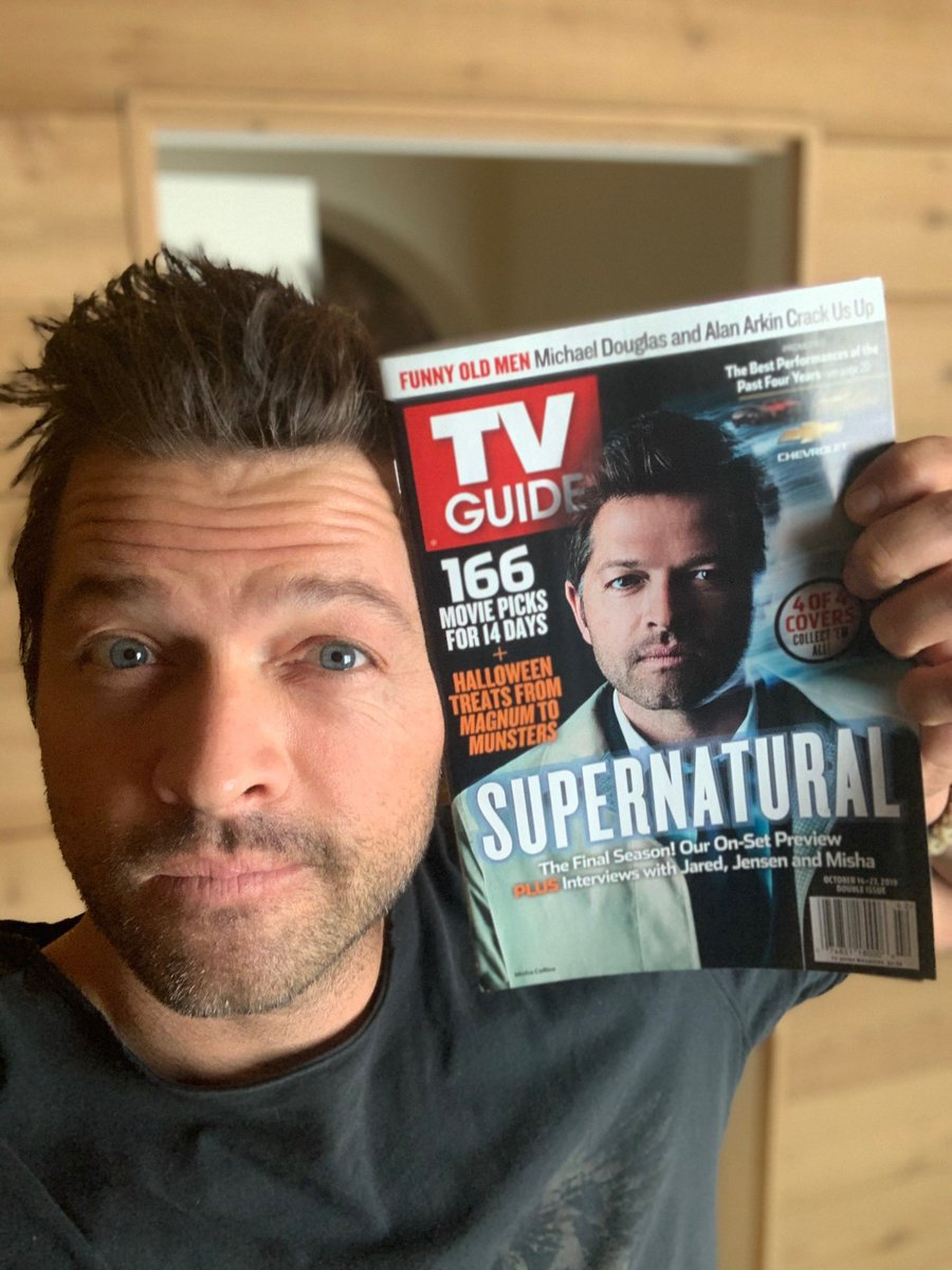 My evil twin made the cover of @TVGuideMagazine! People say we look alike, but we're polar opposites. (For one thing, the shadow is on the wrong side of his face.)