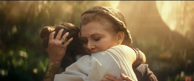 Also, very nice way to pay homage to Carrie Fisher. Happy birthday, Carrie.