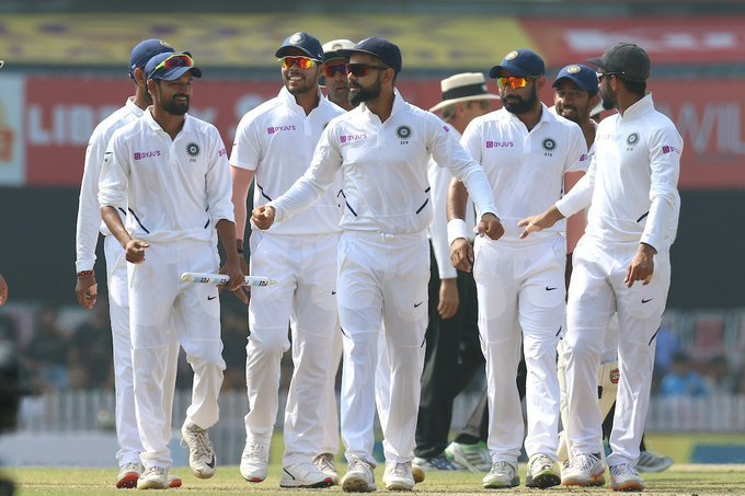 India at the top! Congratulations #TeamIndia  for the series win and a clean sweep! This is India's first test series sweep Against South Africa. Excellent batting & bowling performance and a complete team effort. There is no stopping this team. My best wishes for future matches <br>http://pic.twitter.com/BSHqwuNka2
