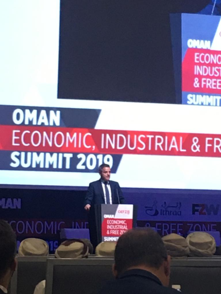 .@SimonPenneyHMTC delivered the keynote speech at Omans Economic, Industrial and Freezone Summit #OEFZS2019 on the 🇬🇧s commitment to 🇴🇲 and our deep and enduring friendship. @UKinOman #BusinessisGREAT