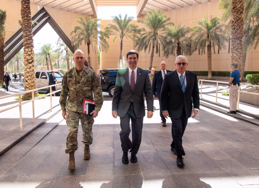 First stop of the day - @USAinKSA Embassy to meet w Ambassador Abizaid and his team for an update on all things KSA. Got to meet w members of the Marine Security Guard Detachment Riyadh while there. <br>http://pic.twitter.com/ET2iZLu3Tu