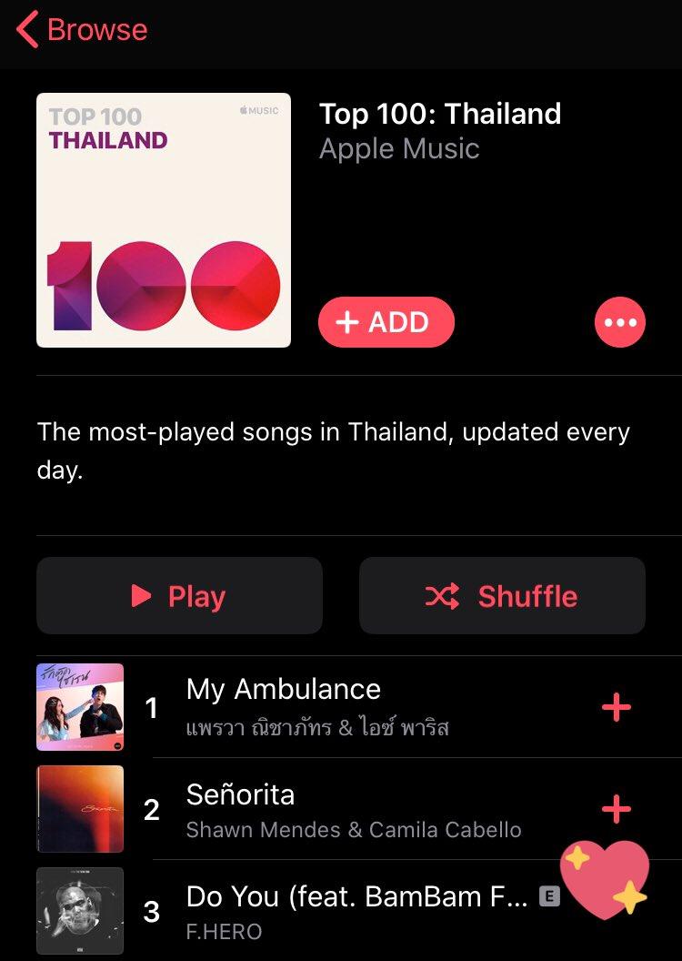 Apple music 15.00  1 - Top charts (All genres)  3 - Top 100 Thailand   #DoYouFHEROxBamBam #BamBam  @BamBam1A <br>http://pic.twitter.com/TXCT1nruBK