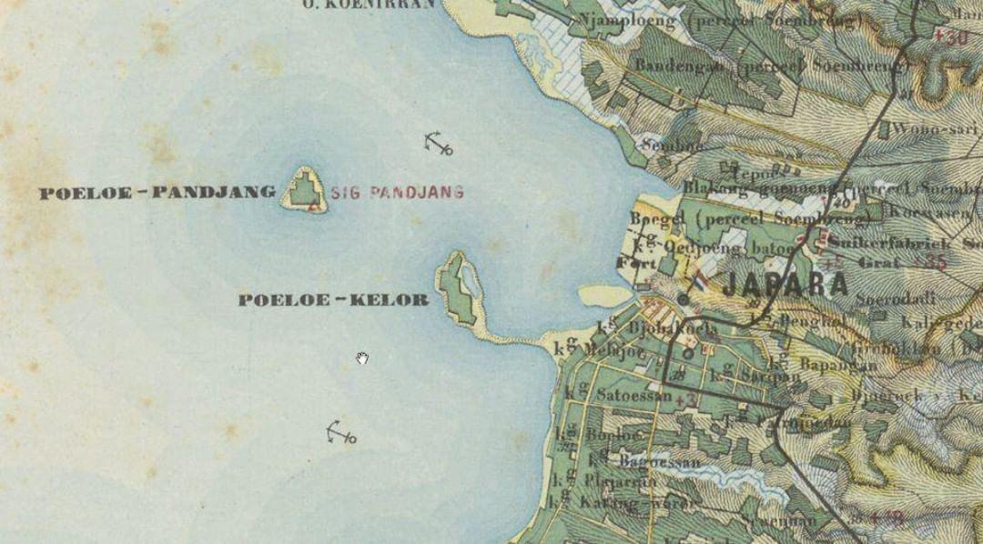 Terdapat Peta yang terbuat pada tahun 1873 menggambarkan dengan jelas bahwa pada waktu itu ada pulau yang dinamakan #PulauKelor. Letaknya di sebelah tenggara dari #PulauPanjang.  #SejarahIndonesia #Kleinscheveningen #KITLV #VisitJepara #JatengGayeng #KompasNusantara #VJinfo