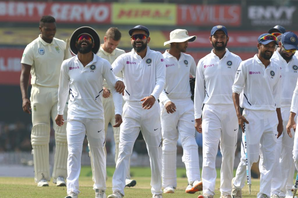 A historic win for India as they record their first Test series sweep against South Africa.    #INDvSA <br>http://pic.twitter.com/i6RpdLjbmT