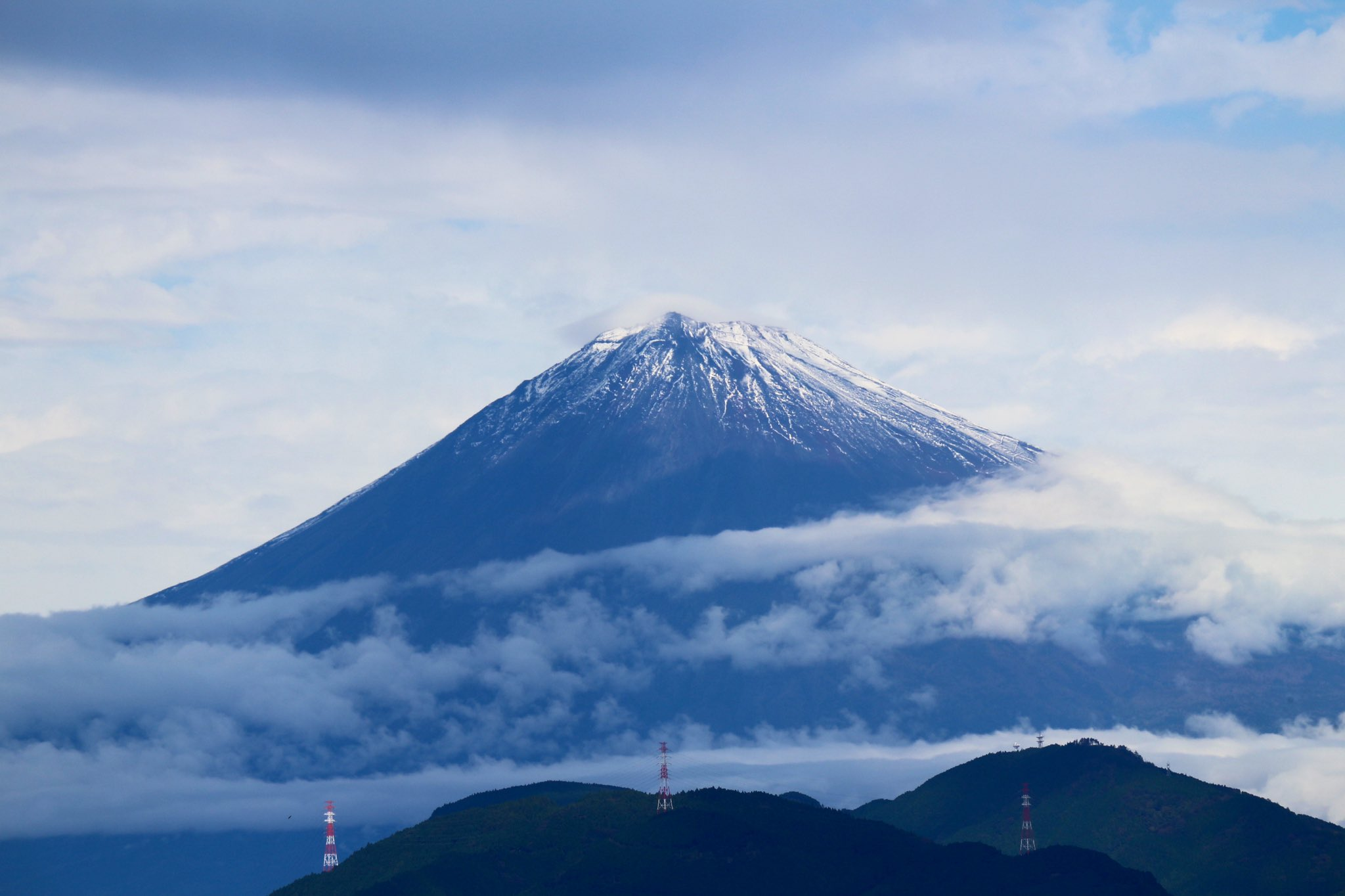 【即位礼正殿の儀】に合わせて富士山もお祝いに顔を出した!!