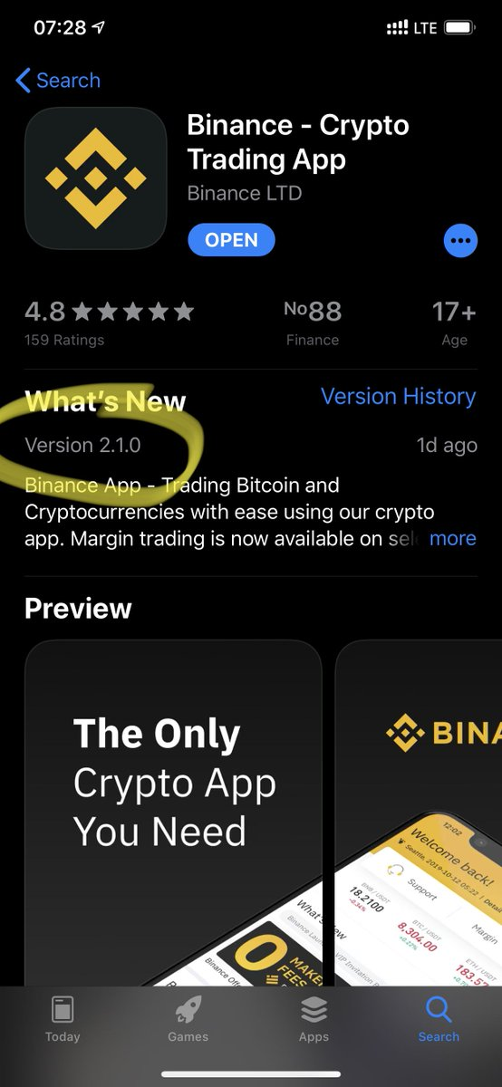 New version of iOS available, with P2P fiat trading enabled for selected Asian markets, and small enhancements and bug fixes.  Enjoy! <br>http://pic.twitter.com/fbKzpkTaN2