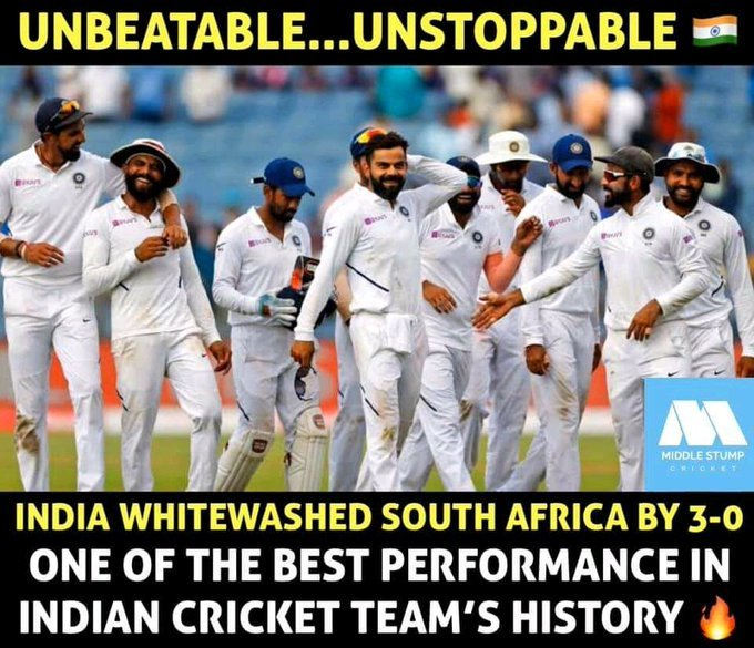 11 consecutive series win at home for #TeamIndia  Congratulations team India ,today match Rohit Sharma one the man of the match and man of the series also <br>http://pic.twitter.com/or4BlC27KT