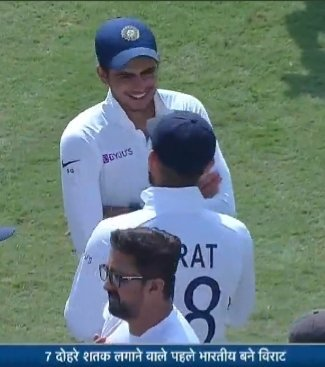 Virat ---You take the legacy forward...!!! Gill-- When are u giving me chance then #ViratKohli #ShubhamGill<br>http://pic.twitter.com/68lAddz2Uy