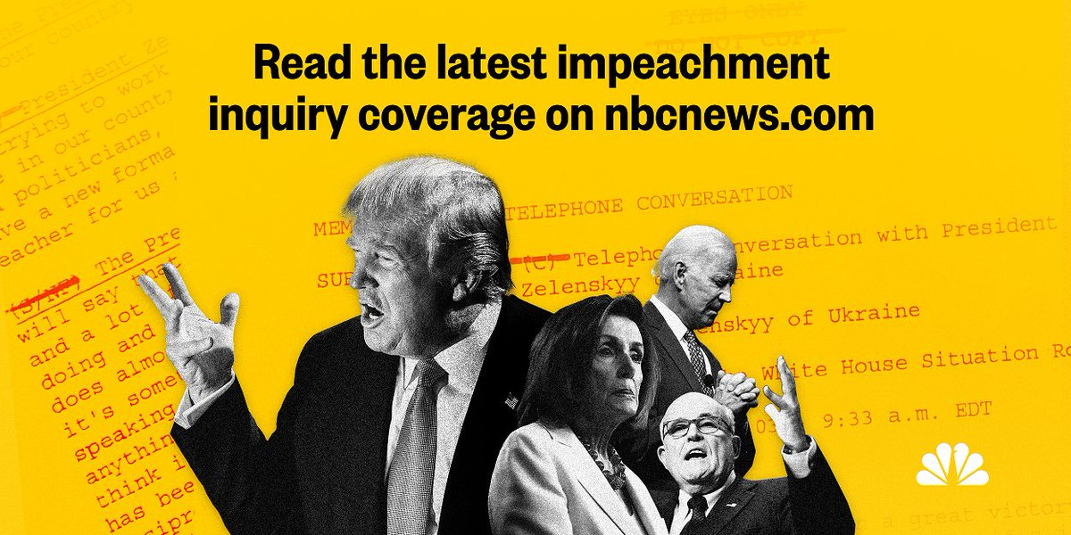 LIVE BLOG / Trump impeachment inquiry: The latest breaking news and analysis from NBC News digital politics reporters, as well as our teams on Capitol Hill and at the White House --> on.msnbc.com/2MzZ2tH