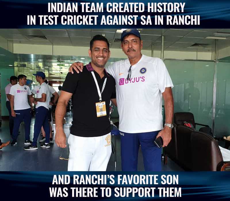 MS Dhoni was present in Indian change room today at JSCA stadium, Ranchi. #INDvSA<br>http://pic.twitter.com/PZONYck3XW