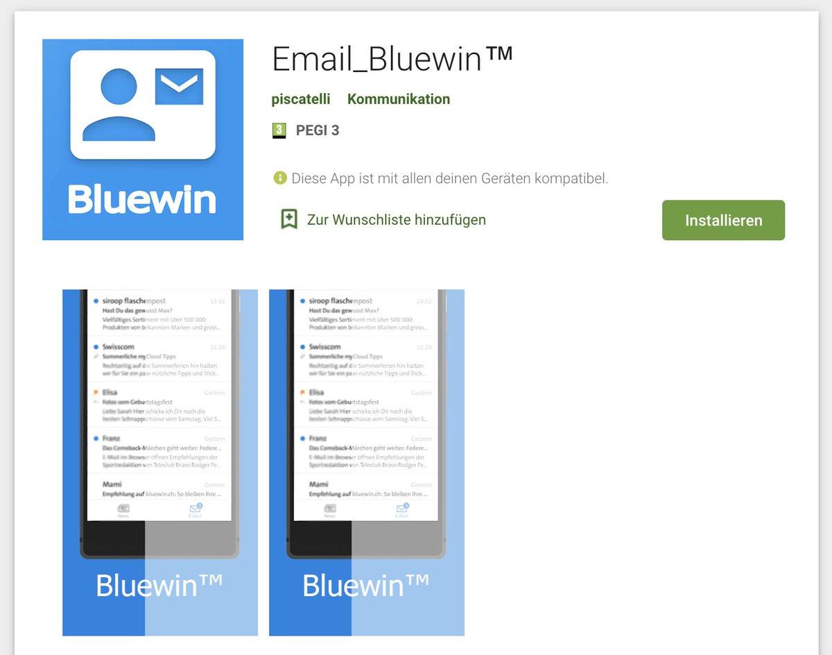bluewin mail einstellungen