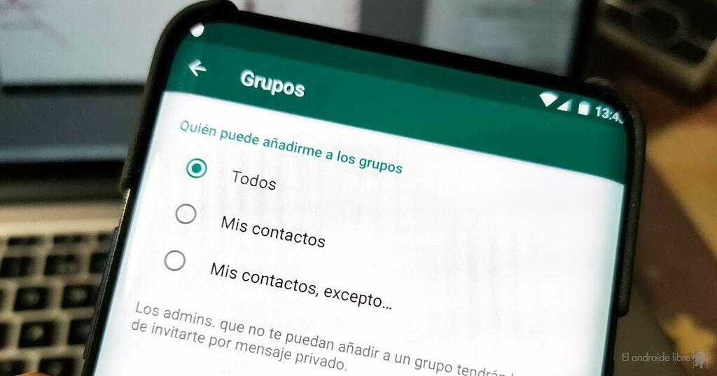 Impide que te añadan a grupos de WhatsApp sin tu permiso, ya en beta